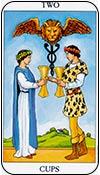 Dos de copas - los arcanos menores del tarot - curso de tarot