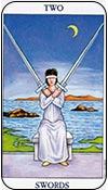 Dos de espadas - los arcanos menores del tarot - curso de tarot