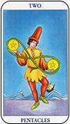 Dos de oros - doses de los arcanos menores del tarot - curso de tarot