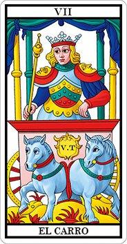 EL CARRO - VII - Arcanos Mayores del Tarot