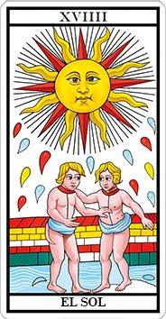 EL SOL - XIX - Arcanos Mayores del Tarot