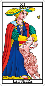LA FUERZA - XI - Arcanos Mayores del Tarot