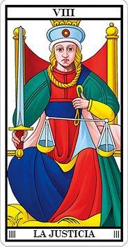 LA JUSTICIA - VIII - Arcanos Mayores del Tarot