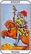 caballo de bastos - caballos de los arcanos menores del tarot - curso de tarot