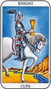 caballo de copas - caballos de los arcanos menores del tarot - curso de tarot