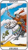 caballo de espadas - los arcanos menores del tarot - curso de tarot