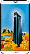 cinco de copas - los arcanos menores del tarot - curso de tarot
