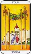 cuatro de bastos - los arcanos menores del tarot - curso de tarot