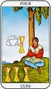 cuatro de copas - los arcanos menores del tarot - curso de tarot