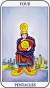 cuatro de oros - cuatros de los arcanos menores del tarot - curso de tarot
