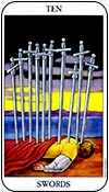 diez de espadas - dieces de los arcanos menores del tarot - curso de tarot