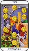 diez de oros - los arcanos menores del tarot - curso de tarot