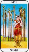 nueve de bastos - nueves de los arcanos menores del tarot - curso de tarot