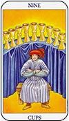 nueve de copas - nueves de los arcanos menores del tarot - curso de tarot