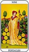 nueve de oros - los arcanos menores del tarot - curso de tarot