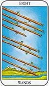 ocho de bastos - los arcanos menores del tarot - curso de tarot