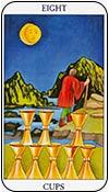 ocho de copas - ochos de los arcanos menores del tarot - curso de tarot