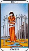 ocho de espadas - ochos de los arcanos menores del tarot - curso de tarot