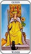 reina de bastos - reinas de los arcanos menores del tarot - curso de tarot