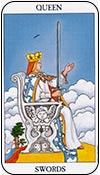 reina de espadas - los arcanos menores del tarot - curso de tarot