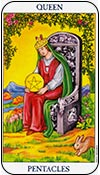 reina de oros - los arcanos menores del tarot - curso de tarot