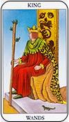 rey de bastos - reyes de los arcanos menores del tarot - curso de tarot