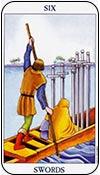 seis de espadas - seises de los arcanos menores del tarot - curso de tarot