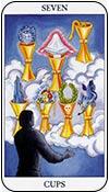 siete de copas - sietes de los arcanos menores del tarot - curso de tarot