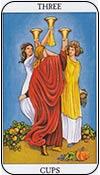 tres de copas - los arcanos menores del tarot - curso de tarot